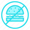 burger, forbidden, junkfood, prohibition icon