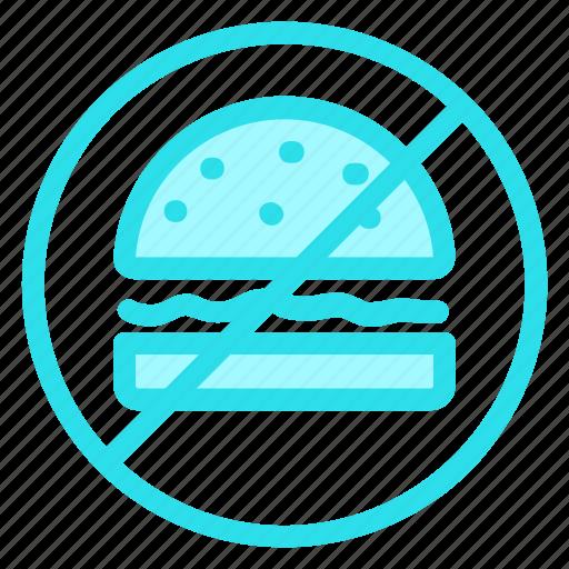 burger, forbidden, junkfood, prohibition icon