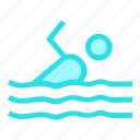sports, swimmer, swimming, swimmingpool icon