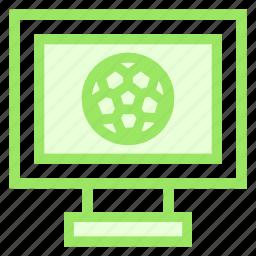 fotball, match, sports, tv icon