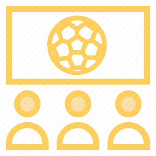 fans, match, sports, watchingmatch icon