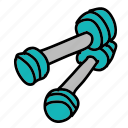 gym, health, muscle, sport, sports, weights icon
