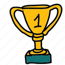 competition, cup, first, place, sports, trophy icon