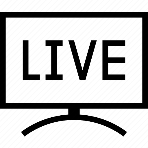 live, sports, stream, streaming, television, tv icon