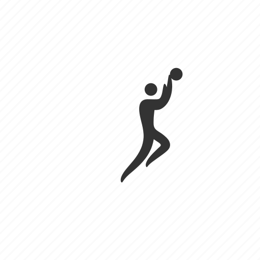 athlete, basketball, competition, dunk, event, jump, layup, match, muscular, pass, player, practice, shoot, skill, sport, stick figure, training icon