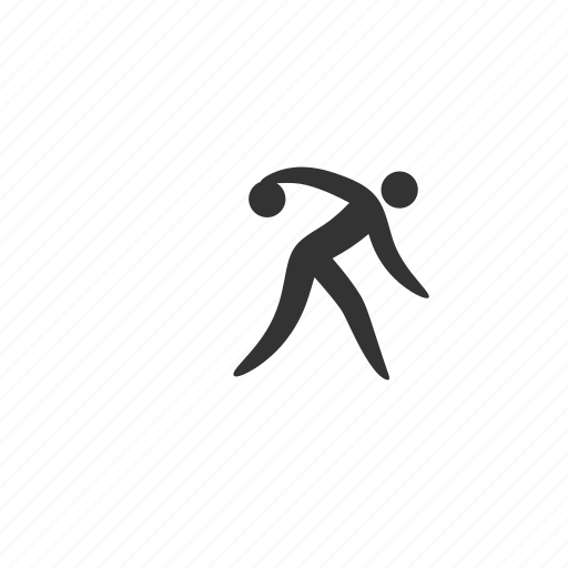 athlete, ball, bowling, competition, event, match, muscular, player, practice, roll, skill, spare, sport, stick figure, strike, training icon