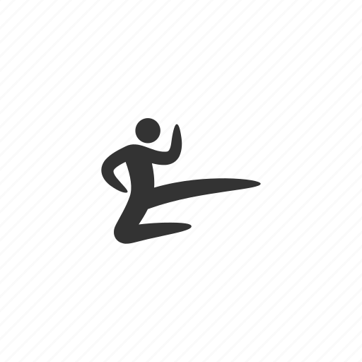 aikido, defense, fight, jump, karate, kick, martial arts, muay thai, protection icon