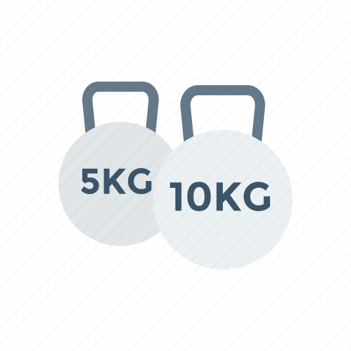 dumbbell, heavy, kg, weight icon