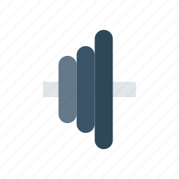 barbell, heavy, plates, weight icon