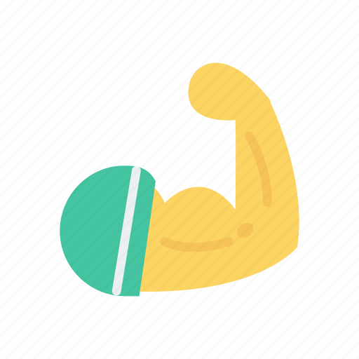 bicep, fitness, gym, muscle icon