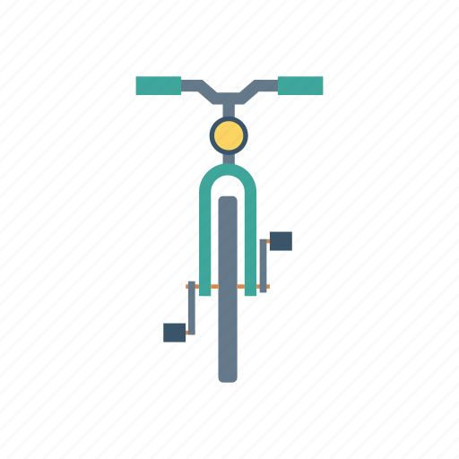 bicycle, cycle, riding, transport icon