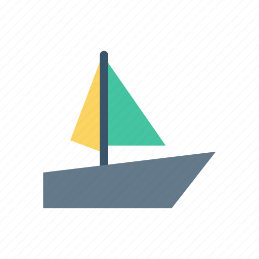 boat, sailingboat, ship, water icon
