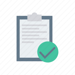 checklist, clipboard, pages, papers icon