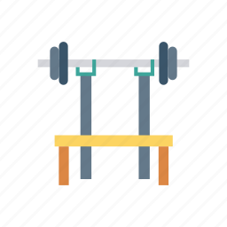dumbbell, fitness, gym, table icon