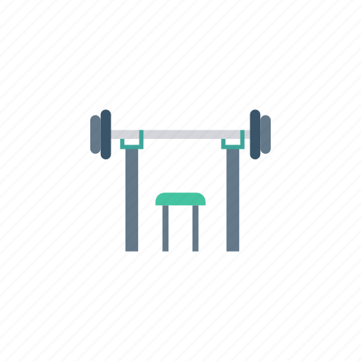 dumbbell, exercise, gym, table icon