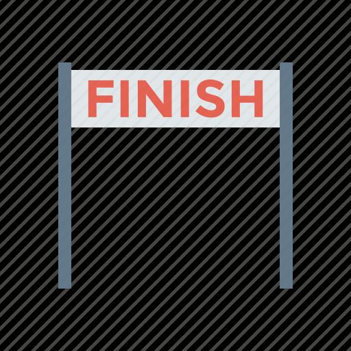 boundary, finish, goal, line icon