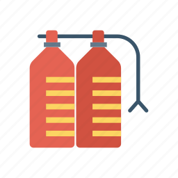 cylinder, extinguisher, fire, safety icon