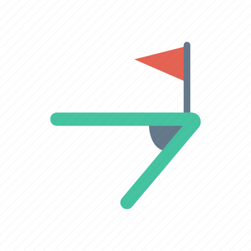 bundary, corner, finish, flag icon