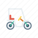 bike, golf, transport, vehicle icon
