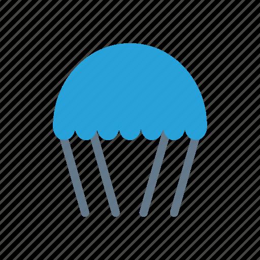 airballoon, fly, parashoot, travel icon
