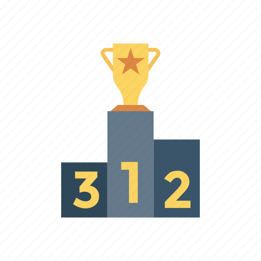 achievement, award, podium, victory icon