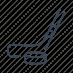 hockey, ice, puck, sport, stick icon