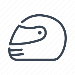 helmet, motorcycle, race, safety icon
