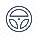 racing, rally, steering, wheel icon