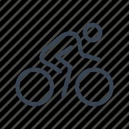 bicycle, bike, cycling, cyclist, sport icon