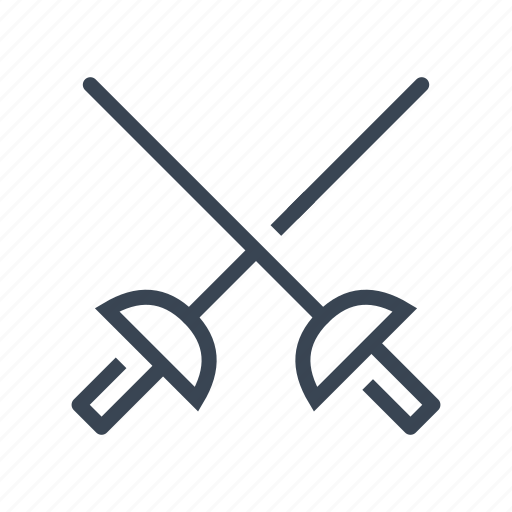 fencing, foil, saber, sword icon