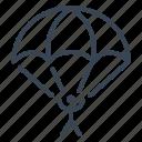 jump, jumping, parachute, parachutist, skydiving icon