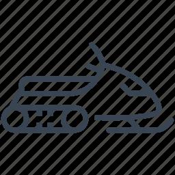 snowmobile, winter icon