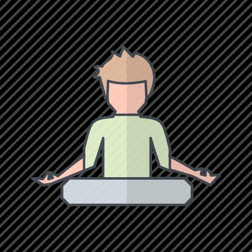 exercise, posture, yoga icon