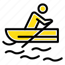boat, rowing, training, water icon