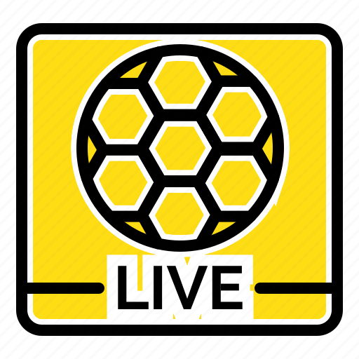 football, game, live, screen icon