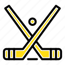 emblem, hockey, ice, stick, sticks icon