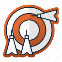 aim, arrow, equipment, goal, sport, target icon