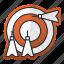 aim, arrow, equipment, goal, sport, target icon