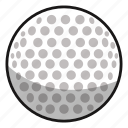 ball, fitness, game, games, golf, play, sphere, sport, sports, white icon