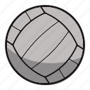 ball, equipment, fitness, games, play, sphere, sport, sports, volley icon