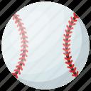 baseball, game, hard ball, sports ball, sports equipment icon