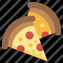pizza, slice, no, fast, food, salami, not