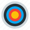 aim, archery, goal, sport icon