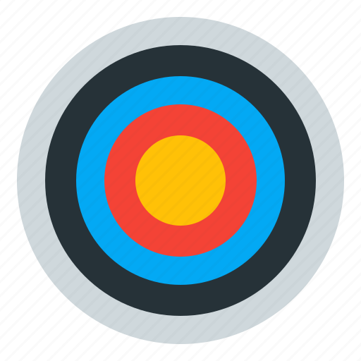 aim, archery, goal, sport icon