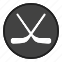 game, hockey, sport, sports, stick icon