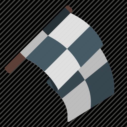 flag, rally, sport, start icon