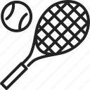 ball, competition, court, game, racket, sport, tennis icon