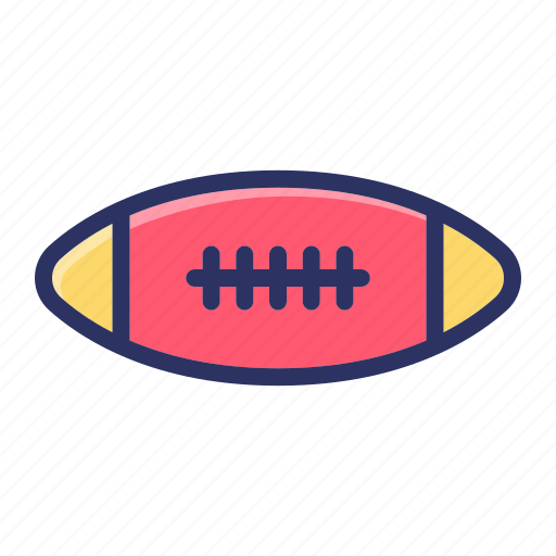 ball, football, rugby, sports icon
