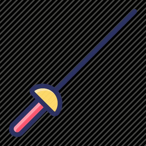 fencing, sports, sword icon