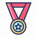 achievment, badge, medal, sports icon